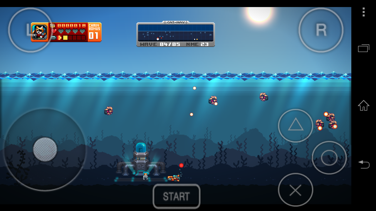 PlayStation Mobile無料化第4弾『Aqua Kitty』は140MB超えゲーム