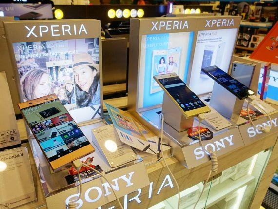 チャンギ空港のXperia XA1シリーズ