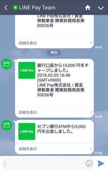 LINE Payの利用履歴